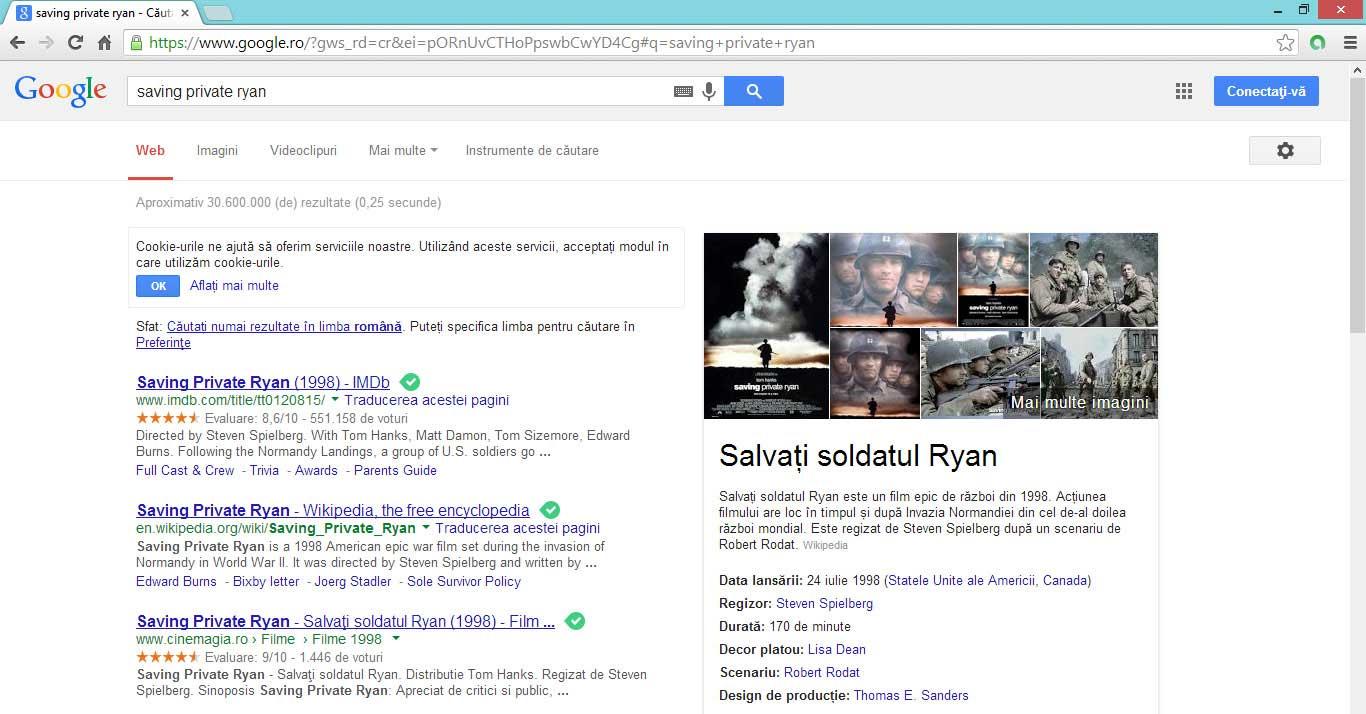 Google preia informaţii de pe site-uri şi o redă pe propriile pagini