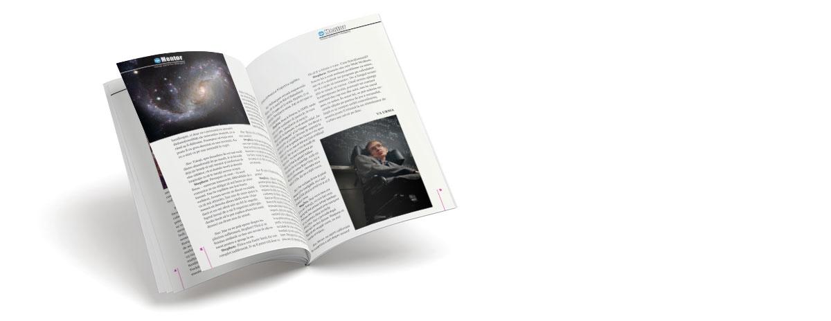 Creare site web & optimizare site: portofoliu - graphic design (revista Mentor)