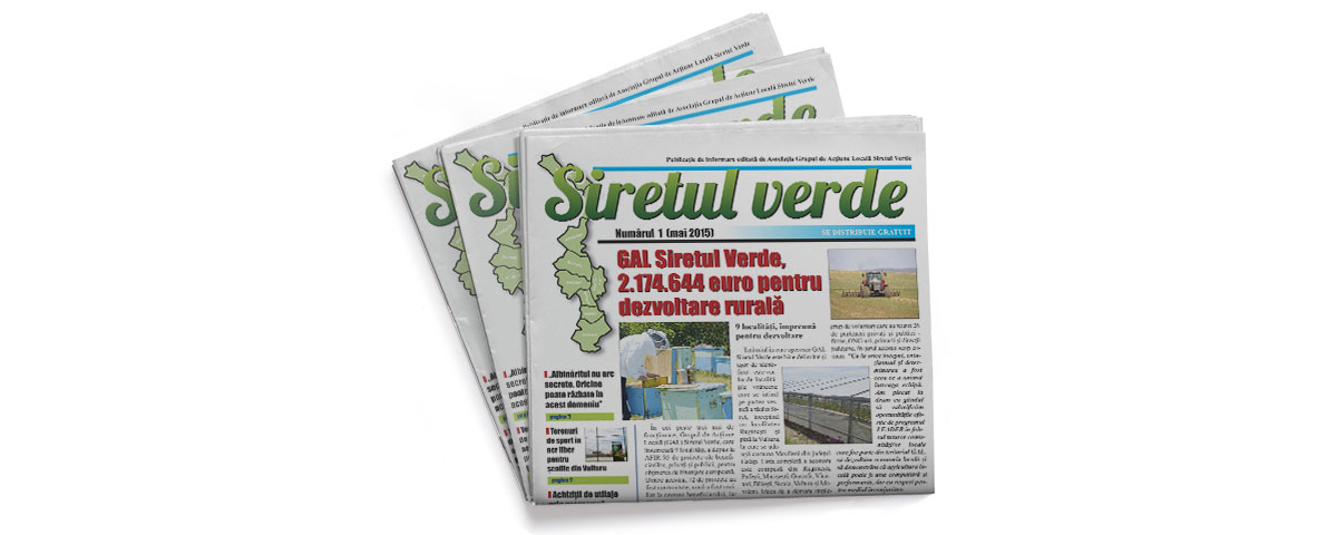 Creare site web & optimizare site: portofoliu - graphic design (ziar Siretul Verde)