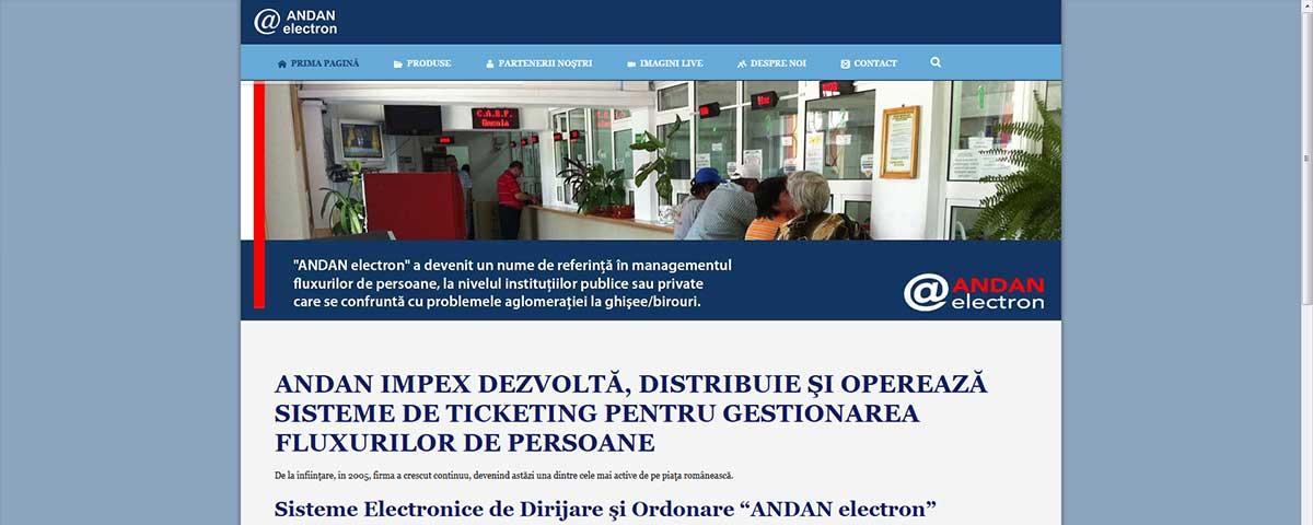 Creare site web & optimizare site: portofoliu - webdesign (andanelectron)