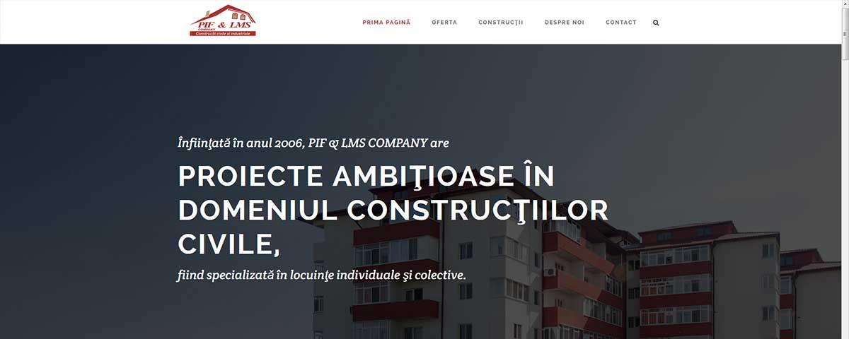 Creare site web & optimizare site: portofoliu - webdesign (piflms)