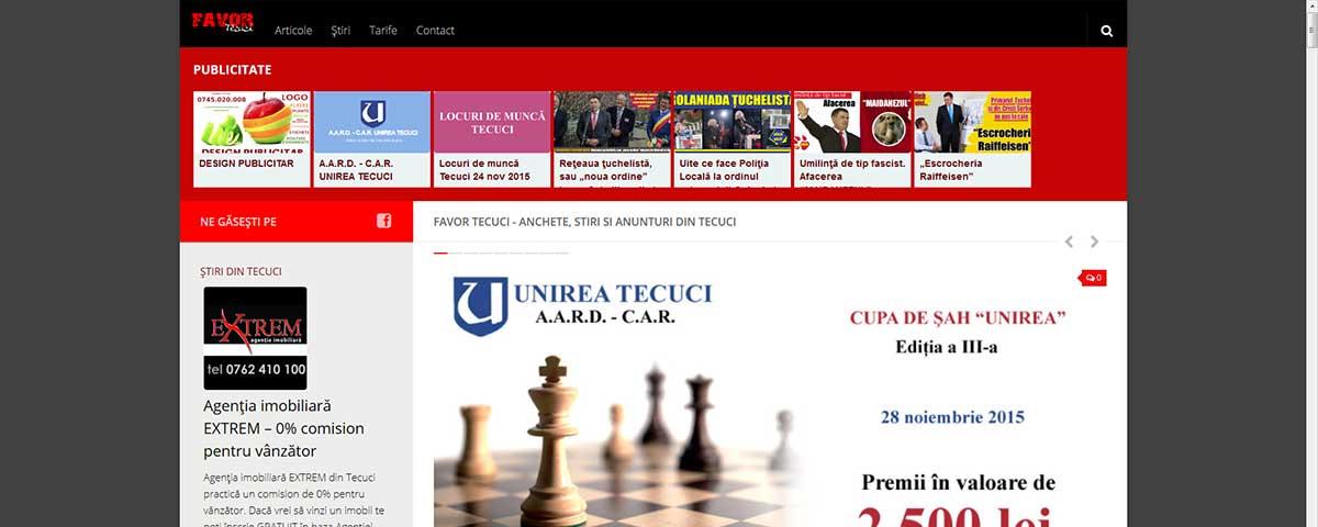 Creare site web & optimizare site: portofoliu - webdesign (favor)