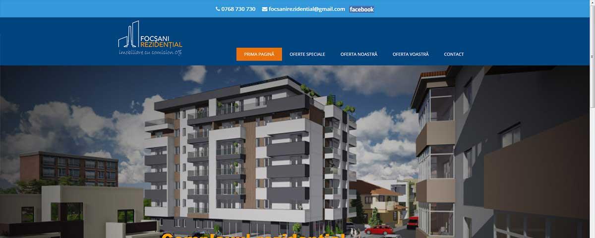 Creare site web & optimizare site: portofoliu - webdesign (focsanirezidential)