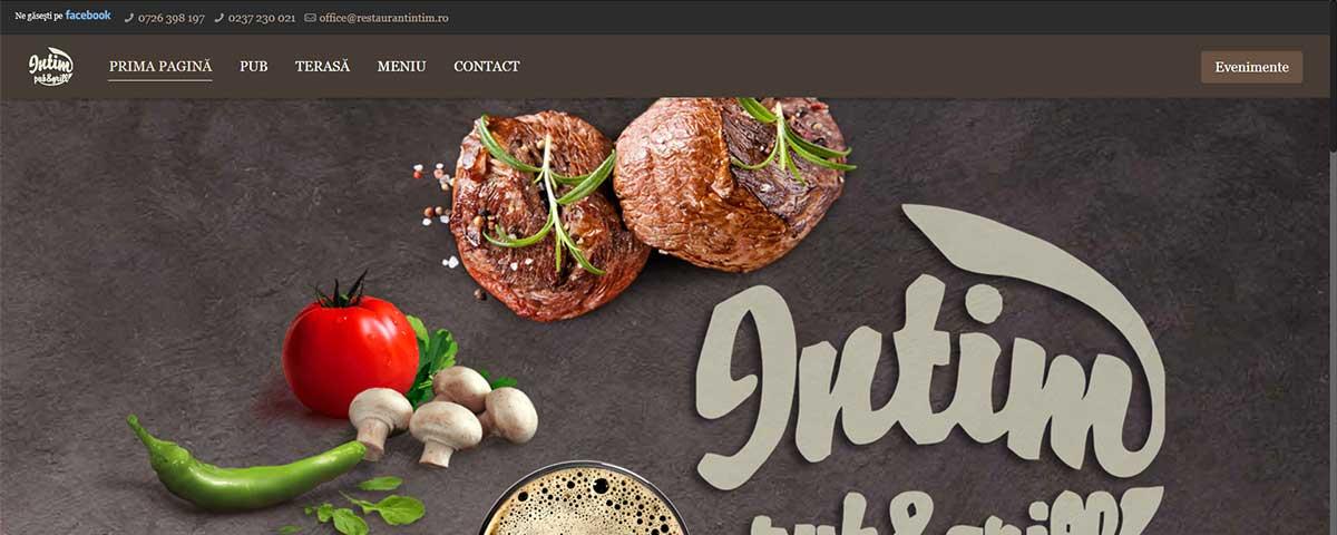 Creare site web & optimizare site: portofoliu - webdesign (restaurantintim)