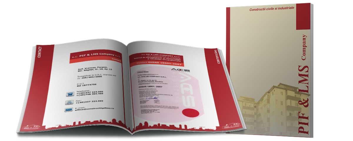 Creare site web & optimizare site: portofoliu - graphic design (catalog prezentare PIF & LMS)