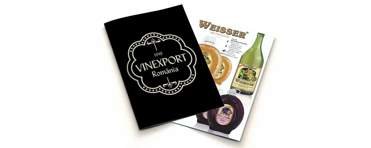 Creare site web & optimizare site: portofoliu - graphic design (catalog prezentare Vinexport SA)