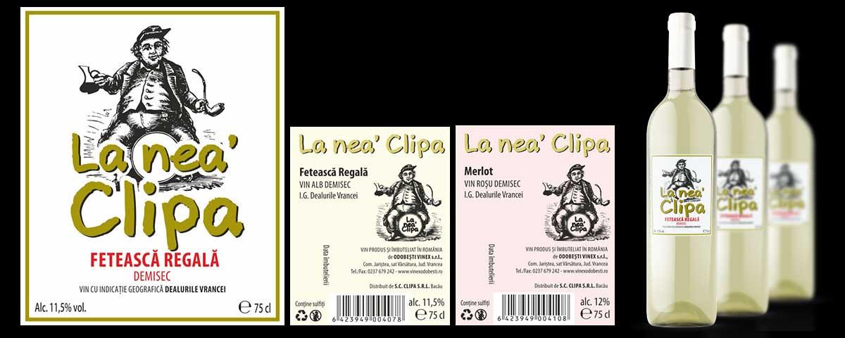 Creare site web & optimizare site: portofoliu - graphic design (design de etichete: La Nea' Clipa)