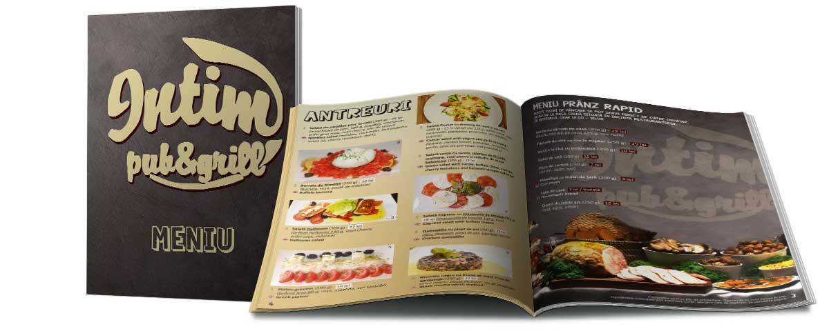 Creare site web & optimizare site: portofoliu - graphic design (meniu restaurant)