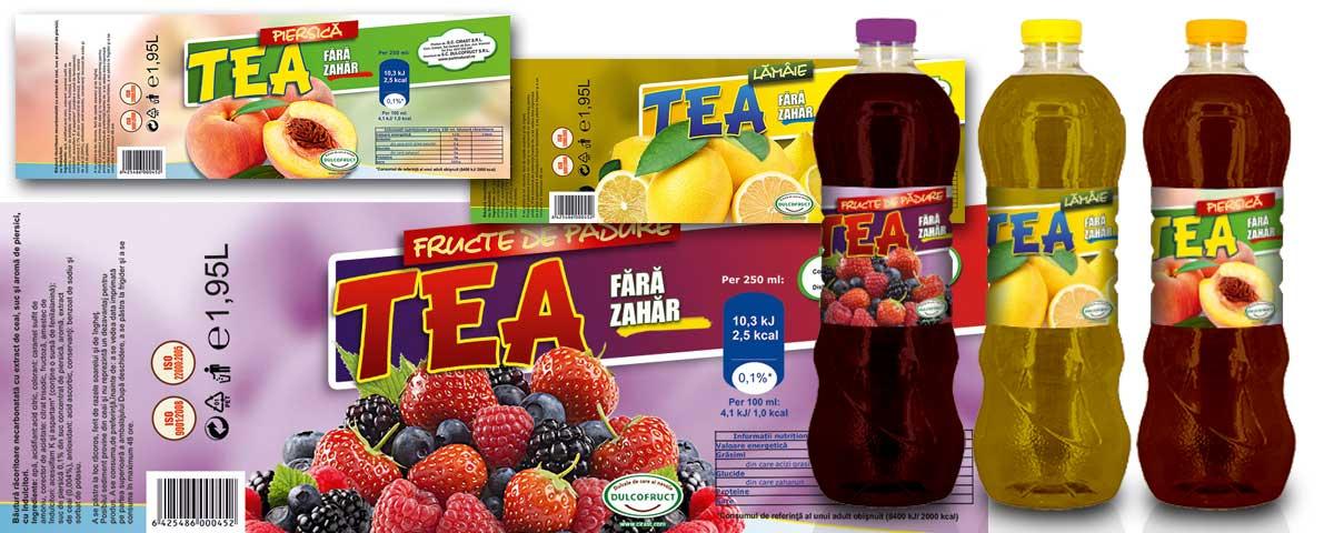Creare site web & optimizare site: portofoliu - graphic design (design grafic pentru etichete de ceai)