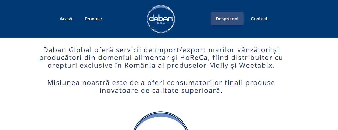 Web design: site de prezentare (corporate) Daban Global
